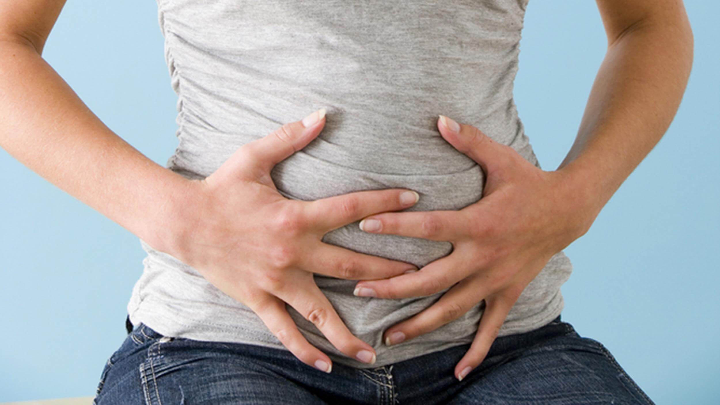 Abdominal Pain In A Woman; Shutterstock ID 167919227; PO: today