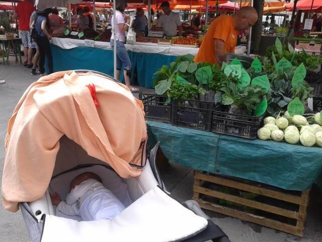 ljubljanska tržnica med tednom, nekaj novega zame