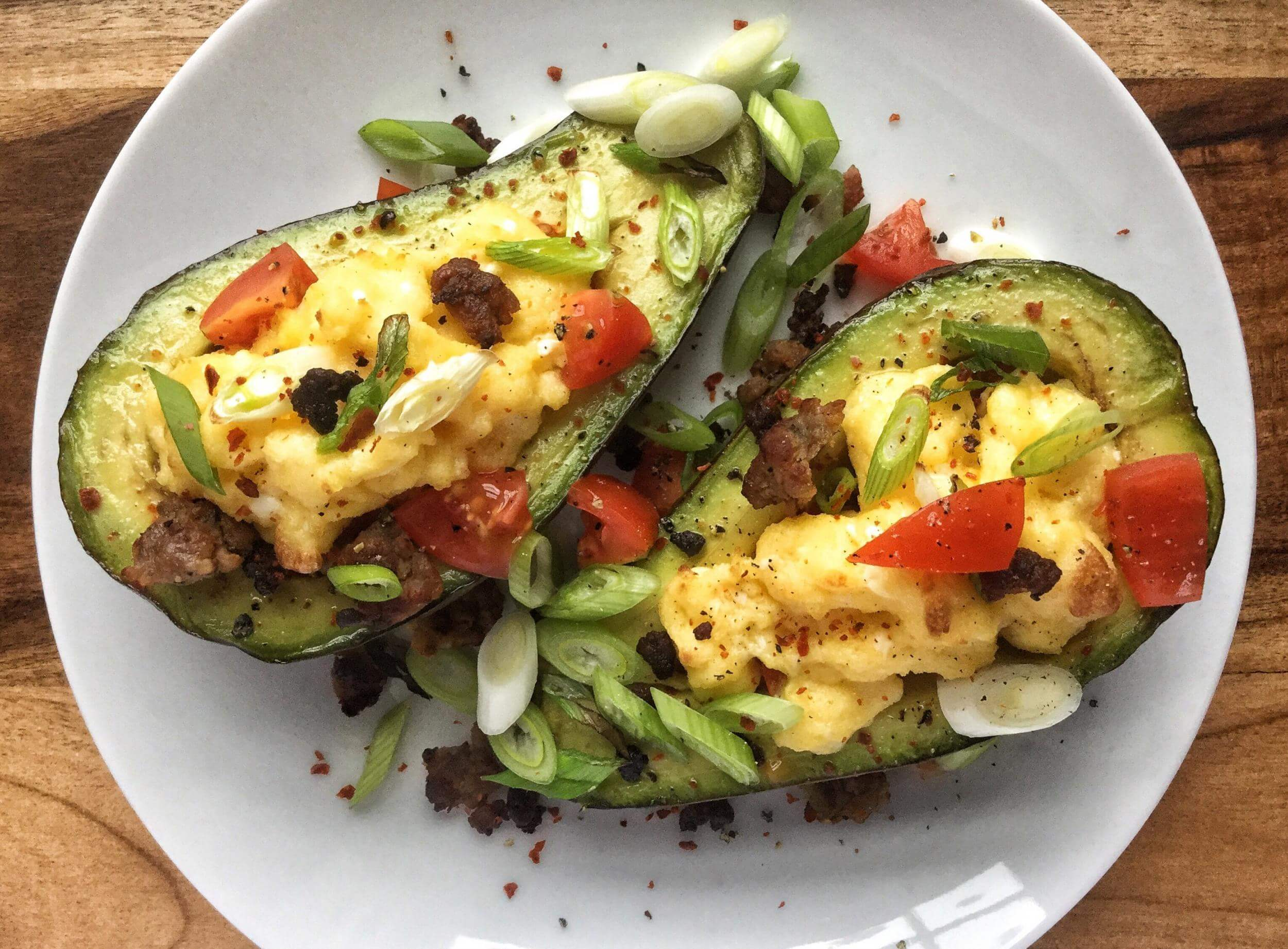 baked-avocado-cups-with-sausage-and-egg