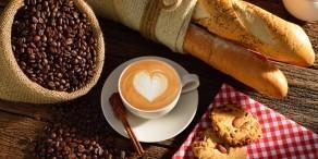 kava, kruh, piškoti