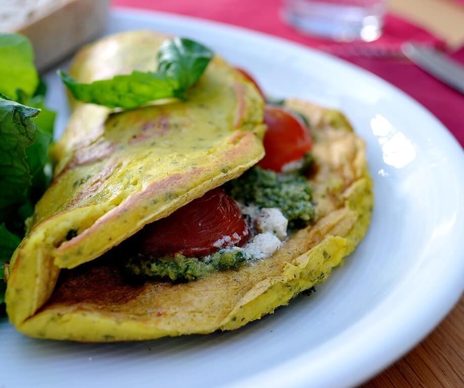 Čičerikine tortilje z zelenjavo